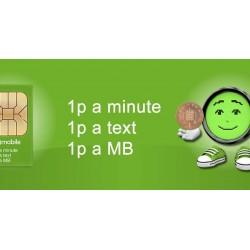 1p Mobile - Sim Card inc £10 credit